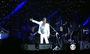 Roberto Carlos faz show em SP na véspera de aniversário de 74 anos