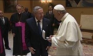 Papa Francisco recebe presidente de Cuba no Vaticano