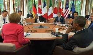 Líderes do G-7 discutem terrorismo e mudanças climáticas