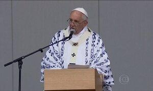 Papa Francisco prega união pelo evangelho em missa no Equador