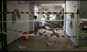 Criminosos explodem caixa eletrônico dentro do hospital em MG