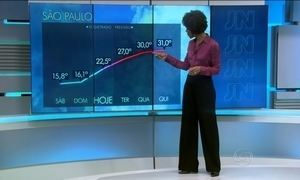 Temperatura volta a subir a partir desta terça-feira (15)