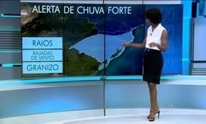 Região Sul está com alerta de temporal para a quinta-feira (17)