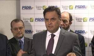 Aécio comenta declarações de Dilma sobre suposta tentativa de golpe
