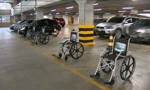 Campanha chama atenção de motoristas para vagas de deficientes