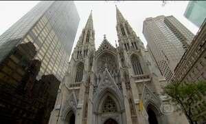 Catedral de Saint Patrick passou por reformas antes de receber o Papa