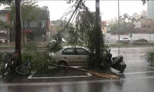 Tufão com ventos de 219km/h deixa 24 feridos ao chegar a Taiwan