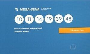 Rateio da Mega-Sena é adiado para segunda-feira (4)