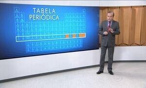 Tabela periódica ganha quatro novos elementos