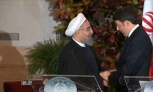 Presidente do Irã, Hassan Rohaní, vai à Itália tratar de acordos comerciais
