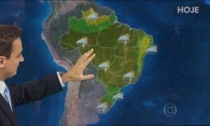 Previsão é de chuva forte em praticamente todas as regiões do Brasil