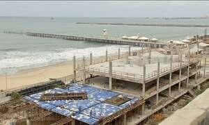 Obra do Aquário de Fortaleza vira risco para a saúde dos moradores