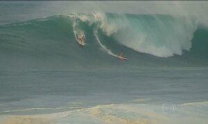 Começa no Havaí um dos principais campeonatos de ondas gigantes do mundo