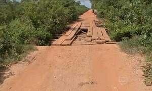 Ritmo lento das obras das pontes em MT prejudica motoristas