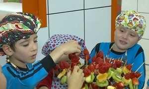 Crianças de Entre Rios do Sul, RS, aprendem de um jeito divertido a se alimentar melhor