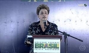 'Antes tarde do que nunca', diz Dilma sobre afastamento de Eduardo Cunha