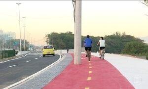 Ciclovia a ser inaugurada para a Olimpíada já tem problema