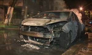 Nove carros são incendiados na Tijuca, Zona Norte do Rio