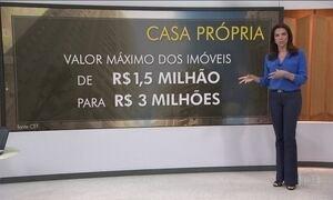 CEF passa a financiar a compra de imóveis de até R$ 3 milhões