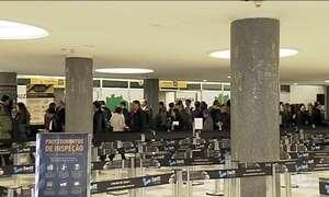 Aeroporto de Congonhas, em SP, abre check-in uma hora mais cedo
