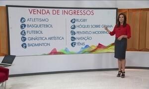 Organização da Olimpíada põe à venda mais 100 mil ingressos