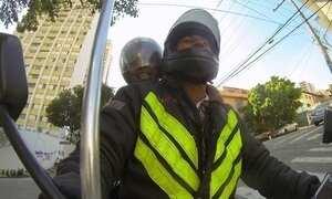 Hoje é dia de andar de moto: motoboy