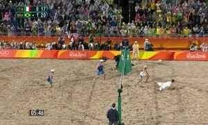 Alison e Bruno vencem italianos e conquistam a medalha de ouro