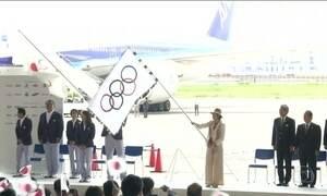 Bandeira Olímpica chega a Tóquio, sede dos Jogos de 2020