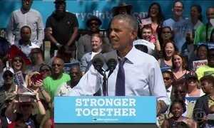 Obama participa de comício em apoio a Hillary, em tratamento de pneumonia