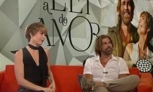 A Lei do Amor: Reynaldo Gianecchini e Claudia Abreu visitam nosso estúdio