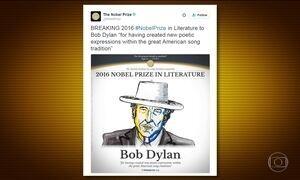Bob Dylan é o vencedor do Nobel de Literatura