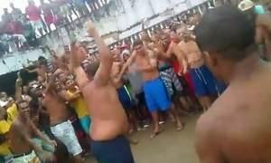 Detentos promovem lutas no estilo MMA em penitenciária de Pernambuco
