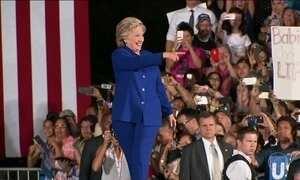 Hillary Clinton e Donald Trump fazem campanha em estados decisivos