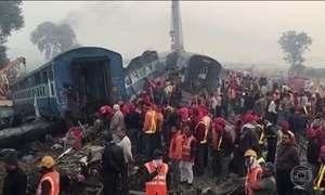 Sobe para 146 o número de mortos no descarrilamento de trem na Índia