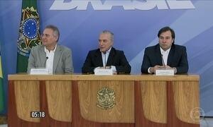 Temer, Maia e Calheiros anunciam que não patrocinarão anistia