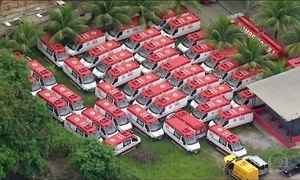 Rio tem mais de 100 ambulâncias cedidas para Olimpíada sem uso