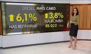 Preço do diesel está mais caro a partir desta sexta-feira (6)