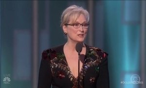 Meryl Streep critica Donald Trump em discurso do Globo de Ouro