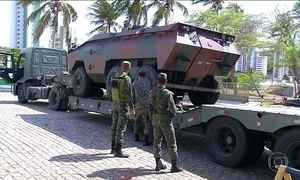 Soldados do Exército vigiam ruas de Natal após novos ataques
