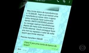 Bandidos aplicam golpe via  WhatsApp para tirar dinheiro de vítimas