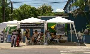 Manifestação de parentes de PMs no Rio entra no quarto dia