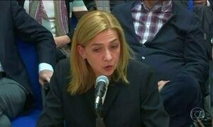 Irmã do rei da Espanha é absolvida de acusações de cumplicidade