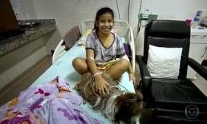 Cães fazem visitas em clínicas de idosos e hospitais infantis em MS