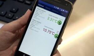 Sensor conecta câmeras frias e estufas à internet e faz alerta de dados