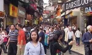 Macau recebe quase cinco vezes mais turistas estrangeiros do que o Brasil