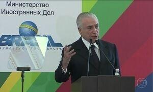 Na Rússia, Temer diz que relatório da PF é questão jurídica, não política