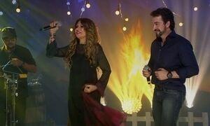Arraiá do Fantástico: Elba Ramalho e padre Fábio cantam Luiz Gonzaga