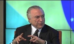 Temer fala a empresários em Nova York sobre corrupção no Brasil