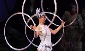 Mari Palma acompanha ensaio de 'Amaluna', do Cirque du Soleil, no Uruguai