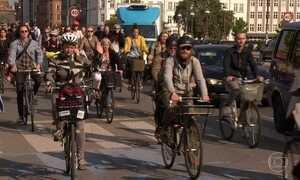 Copenhague é referência mundial no uso de bicicletas como transporte